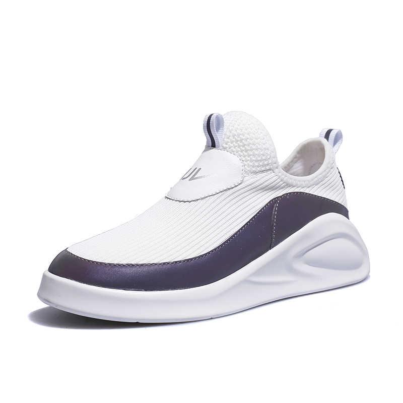 Ayakkabı Kadın Slip-on platform ayakkabılar Flats Yumuşak yürüyüş ayakkabısı Kadın Rahat Hafif Beyaz Ayakkabı Kadın Chaussures Femme