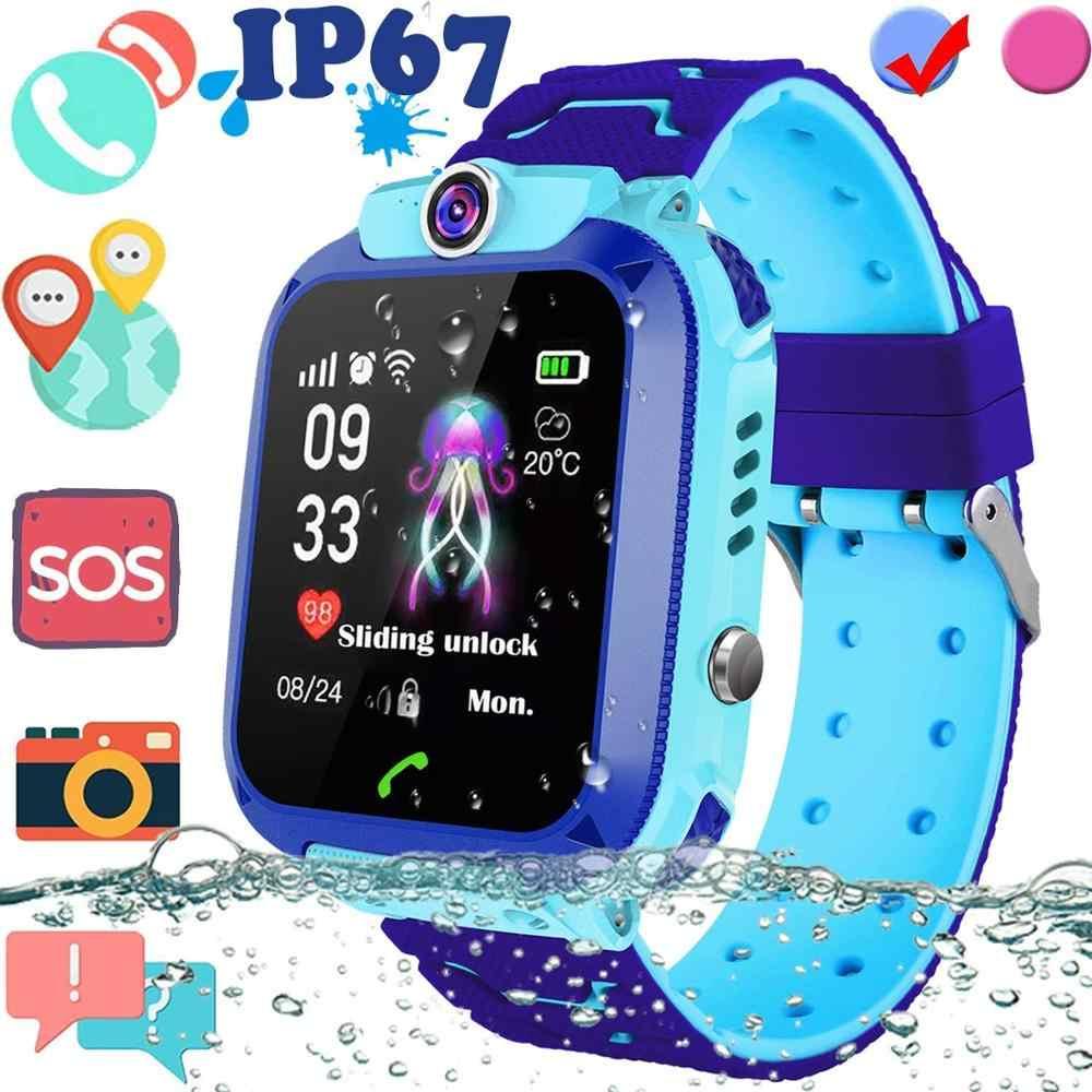 Q12 เด็กSmartWatchesสมาร์ทนาฬิกาเด็กSOS Antil-Lostกันน้ำเด็กSmartwatchซิมการ์ด 2GนาฬิกาLocation trackerนาฬิกา