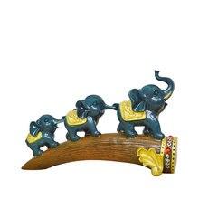 3 маленьких слона статуи из смолы декорации в скандинавском