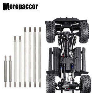 MEREPACCOR Complete Stainless Steel Links 8 Pcs Set For Traxxas Trx-4 324mm Wheelbase