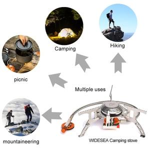 Image 5 - Cuisinière à gaz extérieure large Camping brûleur à gaz pliant cuisinière électronique randonnée Portable pliable poêles fendus 3000W