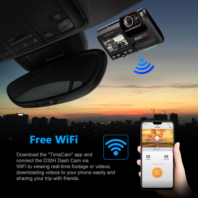 Dual lens car dvr hd night vision dash cam car recorder 4k 2160p wifi gps 360 degree panorama