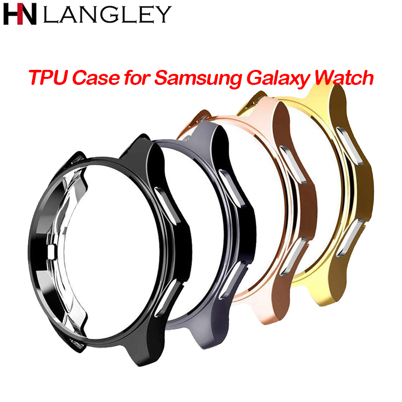 Watch Case for samsung Gear S3 Frontier Galaxy watch 46mm Cover TPU plated All-Around protective smart watch Accessories