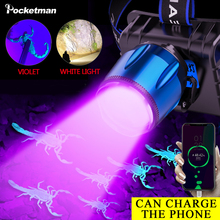 2 in 1 UV Headlamp Black Light LED headlight for Camping Ultraviolet Blacklight Detector for hiking fishing Pet Stains Scorpions cheap POCKETMAN LED Bulbs High Middle Low headlamp UV lamp 180° ROHS Camping Hiking Hunting Fishing Repairing LITHIUM ION