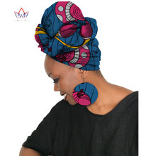 2020 African Ankara Earring Set African Earrings & Matching Headtie Ankara Wax Head Scarf And Africa Earring 2 Pieces SP033