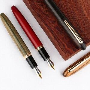 Image 5 - New Moonman M6 Natural Wood Fountain Pen Handmade Full Wooden Beautiful Pen Iridium Fine 0.5mm Fashion Writing Ink Pen Gift Pen