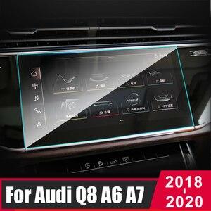 Для Audi A6 C8 A7 Q8 2018 2019 2020 закаленное стекло Автомобильная навигационная панель монитора защитная пленка наклейка аксессуары