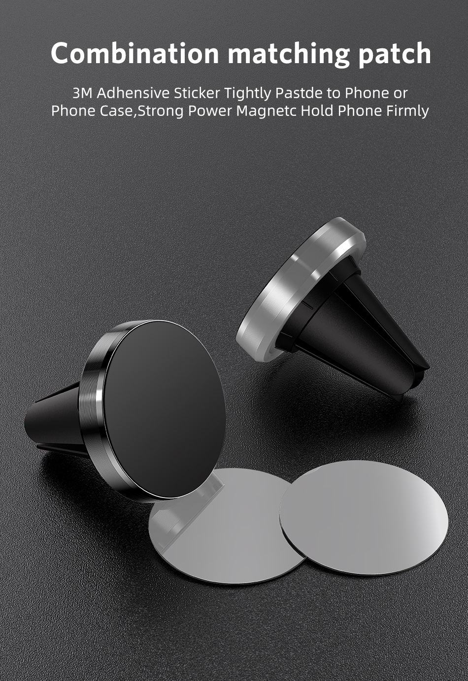 GTWIN Magnetic Car Phone Holder for Mobile Phone in Car Phone Mount for iPhone 11 Samsung Xiaomi Air Vent Clip Smartphones Stand