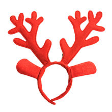 Christmas Kids Antlers bell Headband Accessories Children Santa Claus Hairband Photography Props Lady Vintage Ribbon Head Wear(China)