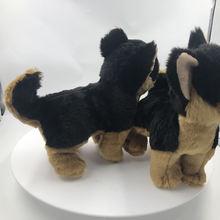 1pc simulation German Shepherd dog doll black dog doll Stationary Plush Toy Simulation Animal baby gift