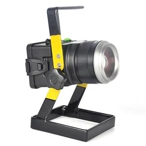 Image 1 - LED 투광 조명 원래 30W 1200 LM LED 홍수 램프 XM L T6 3 모드 캠핑/사냥에 대 한 충전식 LED 스포트 라이트 낚시 램프