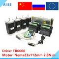 Набор шагового двигателя Nema 23: двигатель + Драйвер TB6600 + секционная плата + источник питания 350 Вт 36 В  фрезерный станок с ЧПУ  комплект с 4 осям...
