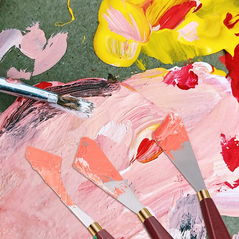5 peças conjunto de faca pintura multifuncional