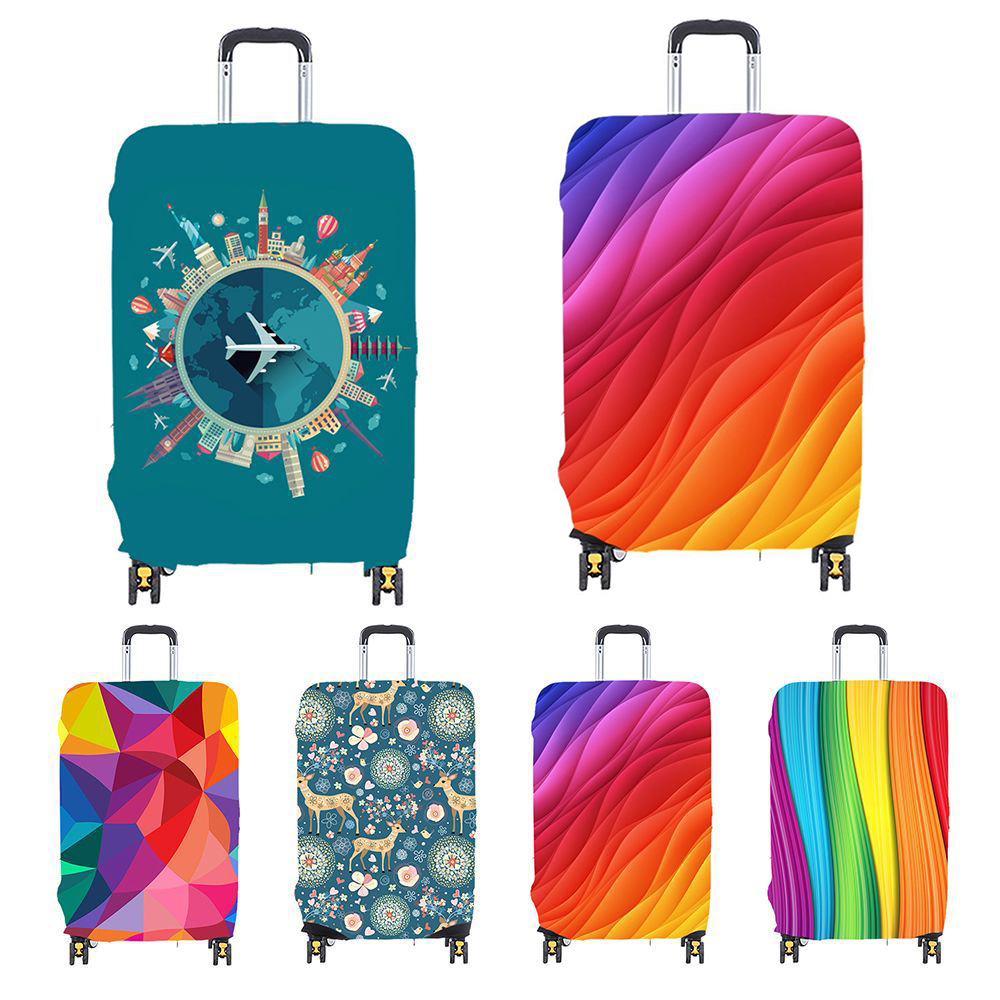 18-32 Inch Thickened Elastic  Luggage Cover Travel Accessories Dust-proof Travel Cover  Trolley Case Cover