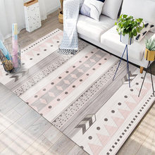 1314 New Simple Nordic Living Room Carpet Striped Plaid Pattern Tea Table Sofa Nordic Rugs for Bedroom Carpets for Living Room