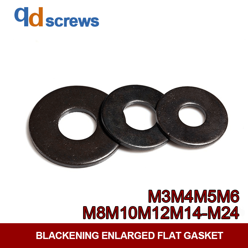 M3M4M5M6M8M10M12M14M16MM18M20M22M24 Blackening enlarged flat gasket