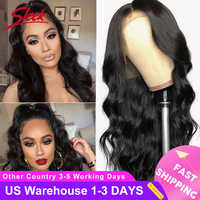 Sleek Brazilian Remy 13x4 Lace Front Human Hair Wigs 8-28 30 Inch Body Wave Human Hair Wigs Pre Plucked Hairline With Baby Hair