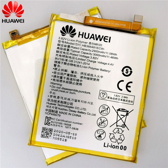 2020 original Real 3000mAh HB366481ECW For Huawei p9/p9 lite/honor 8/p10 lite/p8 lite 2017 /p20 lite/p9lite battery +Tool 2