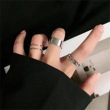 E Runde Ring Set Silber Farbe Offene RingeFrauen Modus Finger Schnalle Gemeinsamen Schwan
