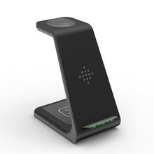 QI için 3 In 1 kablosuz şarj cihazı Iphone 11/XS/X/Airpods pro/Iwatch 5/4 hızlı şarj için kablosuz şarj standı Samsung S10/tomurcuk/saat