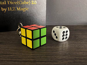 Mental-Dice Cube Magician Gimmick-Prop Metalism Illusions Comedy Close-Up by Soul H.Z