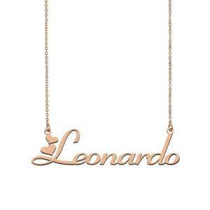 Leonardo имя ожерелье, пользовательское имя ожерелье для женщин девушек Лучшие Друзья День рождения Свадьба рождественские дни матери подарок