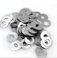 10/20/50/100pcs Stainless Steel M7 Ultra thin Flat Washer Gaskets  flat Thin washer shim Thickness 0.2 0.3 0.5 0.8 1 Gap washer|Washers| |  -