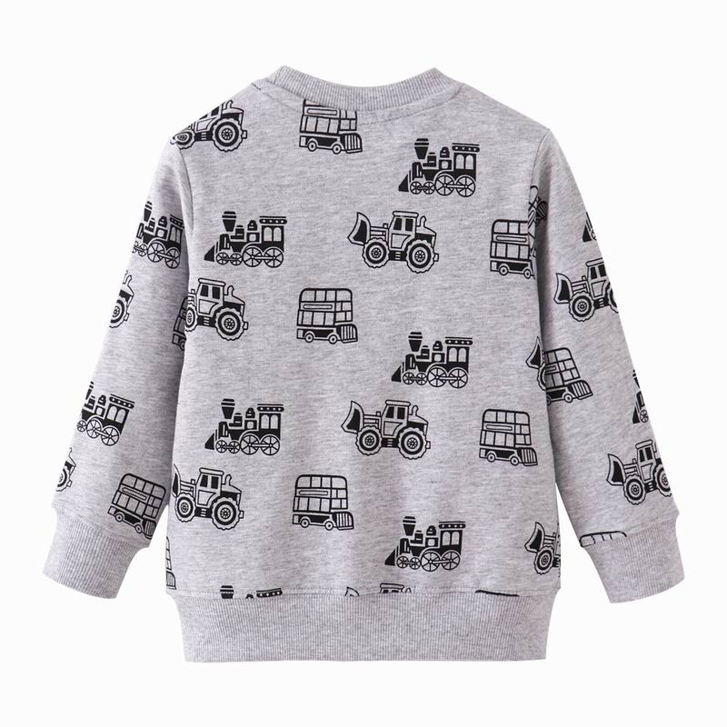 SAILEROAD Tractors Print Boys Sweatshirts Autumn Spring Children's Clothing Cotton for Baby Boys Clothes Kids Hoodies 2