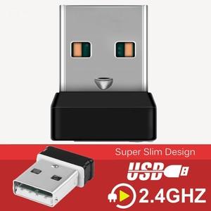 Image 2 - אלחוטי Dongle מקלט מאחד USB מתאם עבור עכבר מקלדת להתחבר 6 מכשיר עבור MX M905 M950 M505 M510 M525 וכו