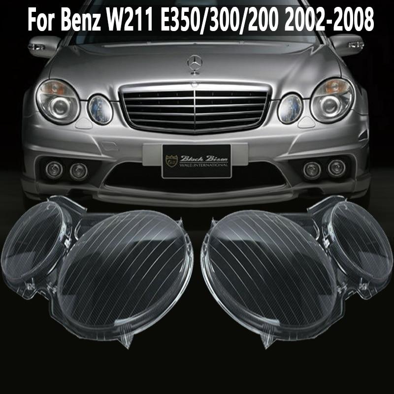 Headlight Clear Lens Lampshade Cover Shell Headlamp Lenses  For Benz E Class W211 E320 E350 2002-2008