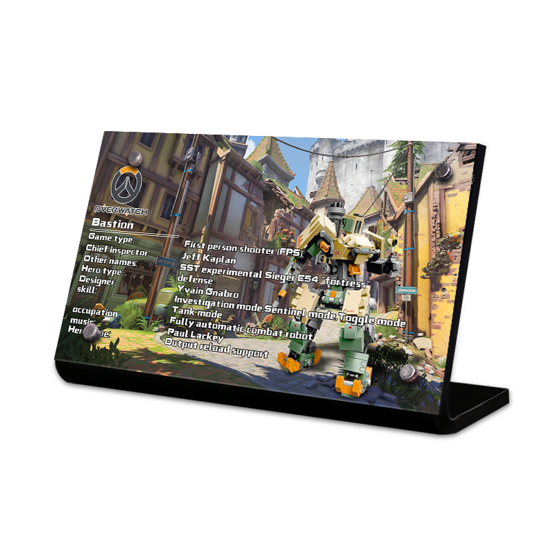 Acrylic Display Stand Brand For Bastion Building Kit 75974 Overwatch Game Robot Action Figu Toys Building Blocks