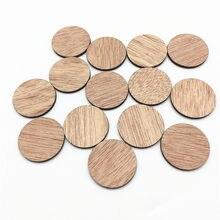 50 stücke 25mm Blank Unfinished Braun Holz Kreise Runde Chips Disks Verzierungen DIY Handwerk