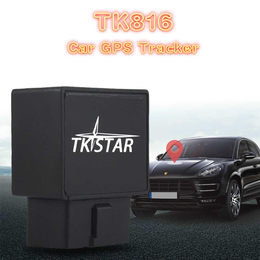 TK STAR TK816 Автомобильный Трекер OBD II GPS GPRS TK816, отслеживание sms в приложении google map и Android, отслеживание в реальном времени с ударной сигнализацией