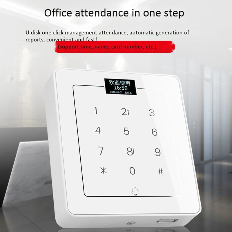 C800 Press Keypad Access Control System Door Lock Swipe Password Integrated Machine Access Control Machine|  - title=