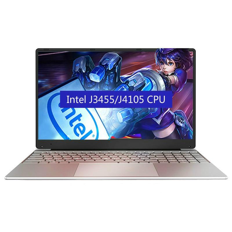 Intel J3455 J4105 Portable Laptop 8G RAM 128G 256G 512G 1024G SSD 1920*1080 15.6 Inch Netbook Business Office Notebook Computer