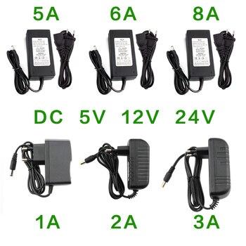 Universal Power Adapter DC 5V 12V 24V 1A 2A 3A 5A 6A 8A Power Supply Adapter DC 5v 12v 24V Hoverboard Charger 220V to 12 24 Volt power adapter dc 12v 3a supply adjustable 12 v volt adaptador 12v power adapter supply 220v to 12v led lamp power adapter supply