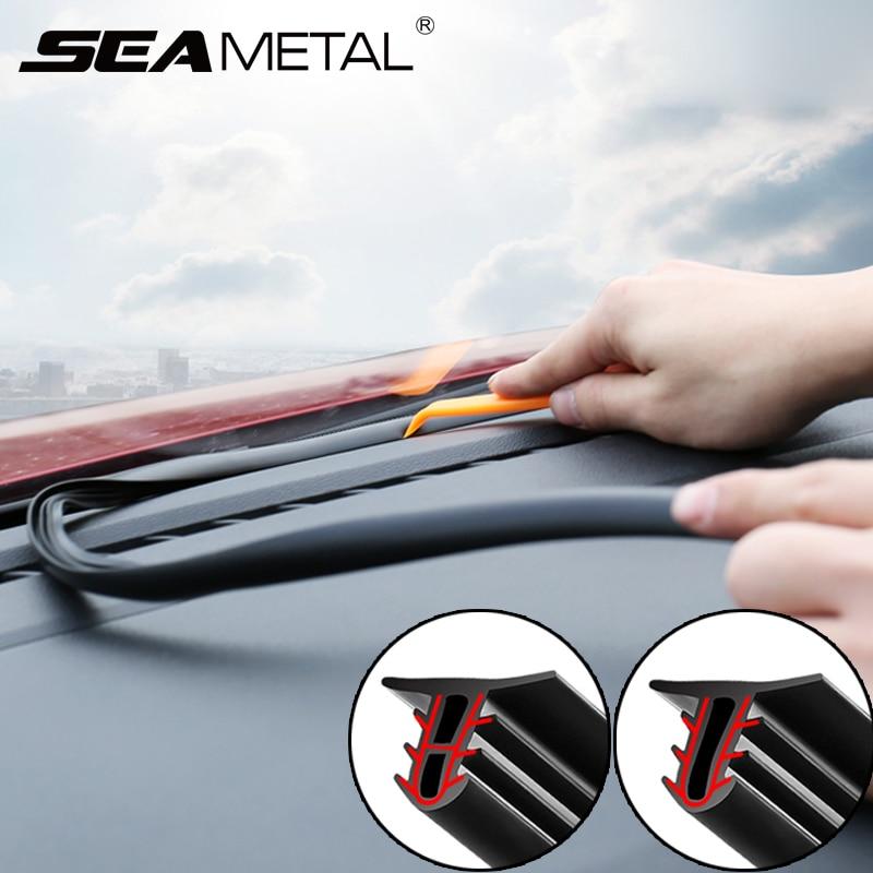 1.6M Car Sealing Strips Sound Insulation Car Sticker Weatherstrip Dashboard Rubber Seal Strip Universal Car Interior Accessories