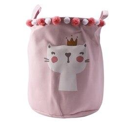 Składany kosz na pranie Cartoon kosz w kształcie beczki do przechowywania stojące zabawki kosz do przechowywania ubrań pranie organizer etui gospodarstwa domowego w Kosze na pranie od Dom i ogród na