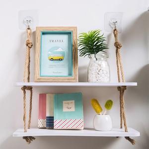 Image 5 - Regał do przechowywania z półkami dekoracyjne półki ścienne haczyki na drewno ścienne półka ścienna kuchnia przechowywanie organizacja półka do przechowywania w szafce