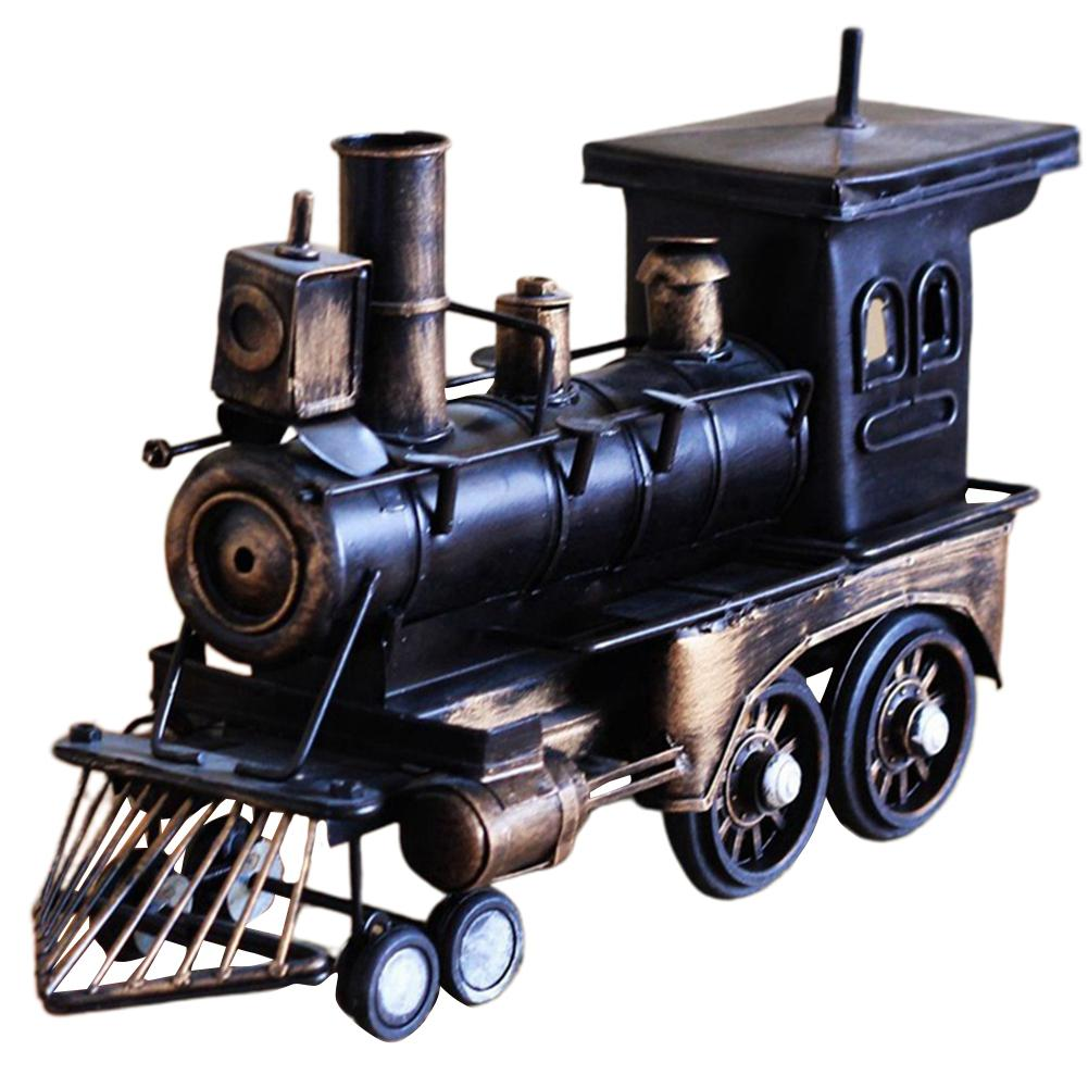 Classic Stream Locomotive Model Music Box Retro Manual Music Box Gifts