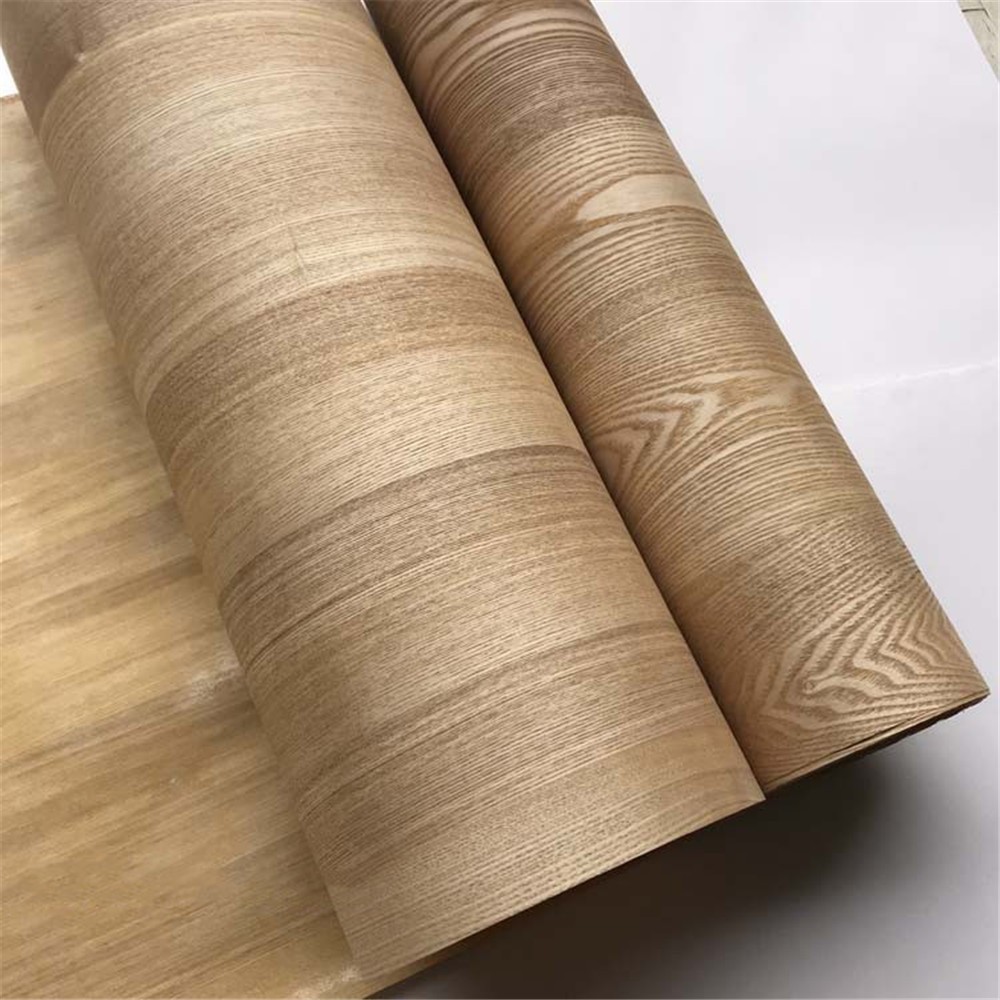 Natural Genuine Wood Veneer With Non-woven Tissue Fraxinus Mandshurica Rupr. Manchurian Chinese Ash About 60cm X 2.5m C/C