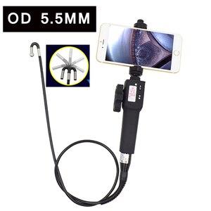 Cyfrowy przemysłowy endoskop kamera sterowane 720P IP67 boroskop 5.5mm samochodowa USB rury silnika kamera inspekcyjna dla Android IOS