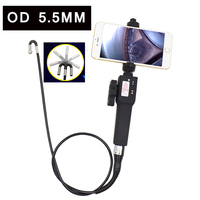Digital Industrial Endoscope Camera Steerable 720P IP67 Borescope 5.5mm USB Car Pipe engine Inspection Camera for Android IOS