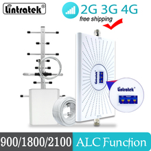 75db Signal Booster 4G LTE GSM 2G 3G UMTS Repeater 900 1800 2100mhz Triple band B1+3+8 Signal Amplifier for Home Use #20