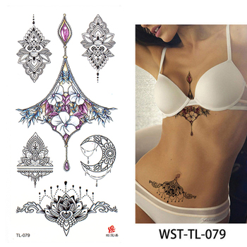 2021 New Fashion Geometry cool Temporary Tattoo Sticker Women Minimalist lines pattern Body Art New Design Fake Men Tattoos 1