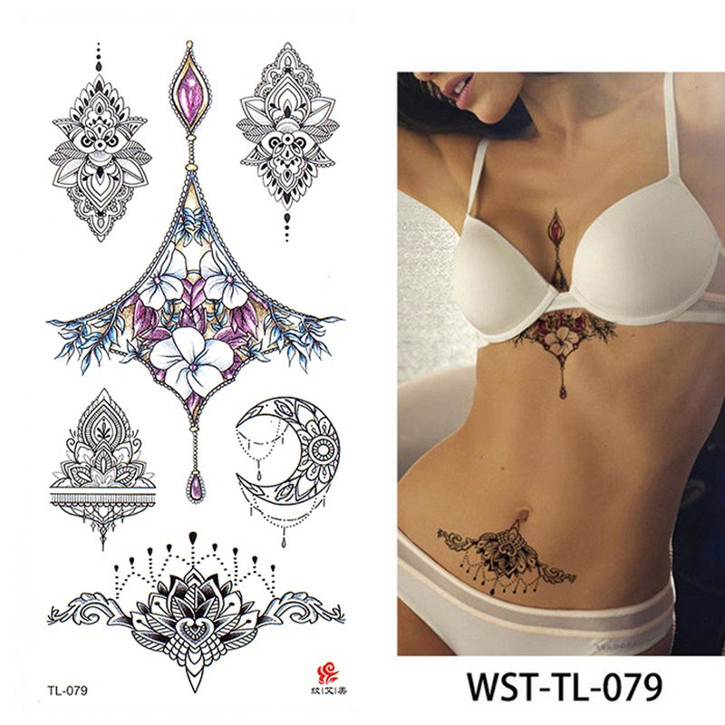 2020 New Fashion Geometry Cool Temporary Tattoo Sticker Women Minimalist Lines Pattern Body Art New Design Fake Men Tattoos