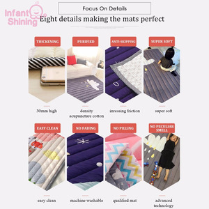 Image 5 - Baby Mat Play Mat Children Carpet Baby Playmate 140X195X2.5CM Machine Washable Rugs For Living Room Anti skid Bedroom 55X76 Inch