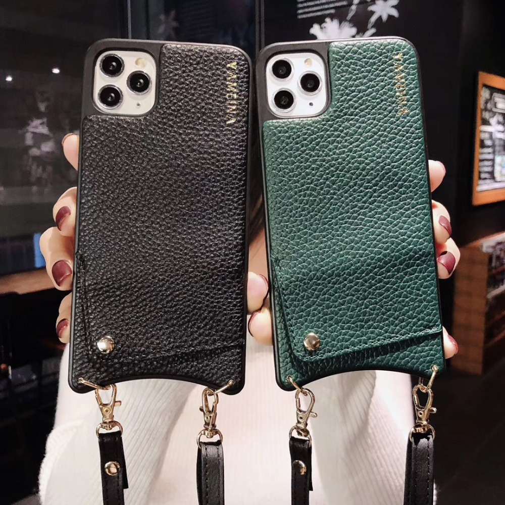 Hbedd45d98d9c44cd962702aac70d1f490 Credit Card Leather Wallet Strap Crossbody Long Chain Phone Case for Iphone 11 pro XR XS Max 6S 8 7 plus luxury Back cover coque