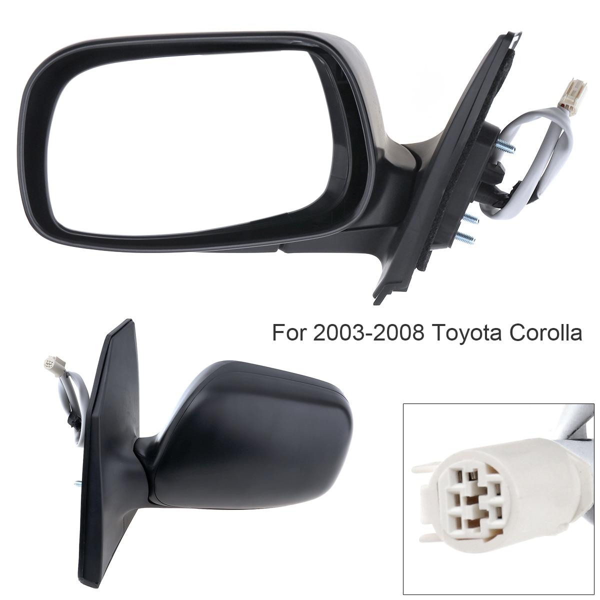 Non-Folding Durable Left Side Mirror Hand LH for 2003-2008 Toyota Corolla CE LE S Sport XRS Sedan 4 Door