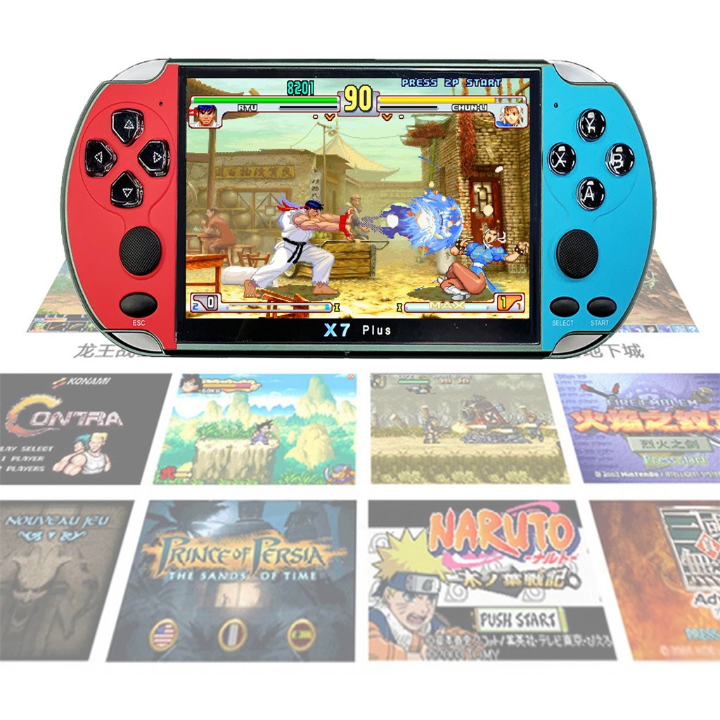 EPULA Portable Retro Classic Game Console Handheld boy nostalgic 800 Built-in 4.3 inch TFT screen Games for Child classic Player